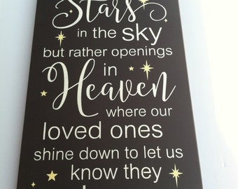 Perhaps they are not STARS in the sky, but openings where our LOVED ones shine down to let us know that they are happy
