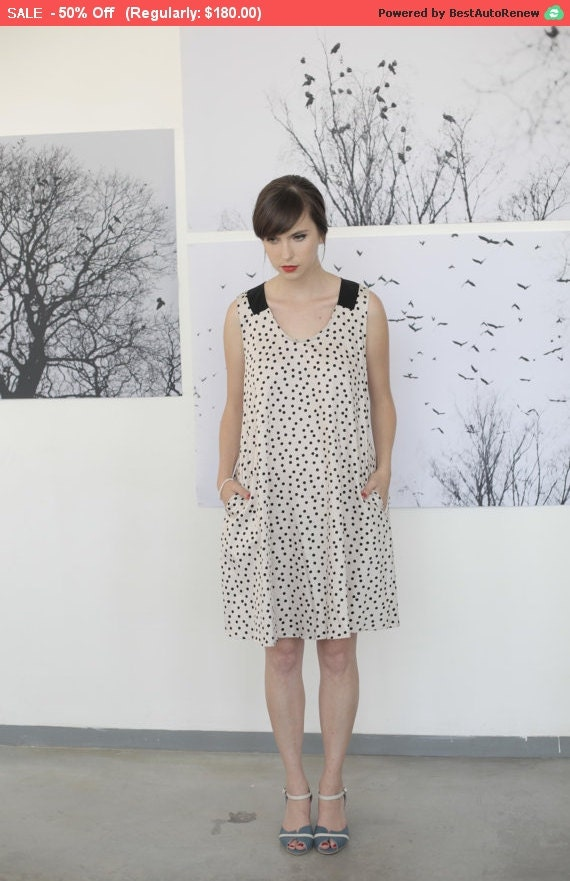 Sale Polka Dot Dress Dress With Bow By Isidoraannefashion