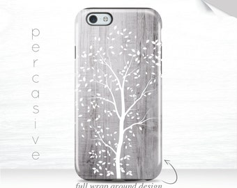 iPhone 7 Case Tree iPhone 6s Case Nature iPhone 5 Case Grey Wood Print iPhone 5c Case 3D iPhone 6 Case Leaves Galaxy s7 case 04a