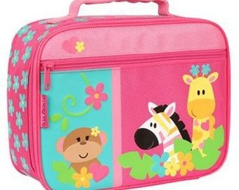 Stephen Joseph Girl Zoo Lunch Box Toddler Pre School INCLUDES SHIPPING!!! Personalized