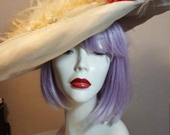 FREE  SHIPPING    1940  Couture Feather Hat