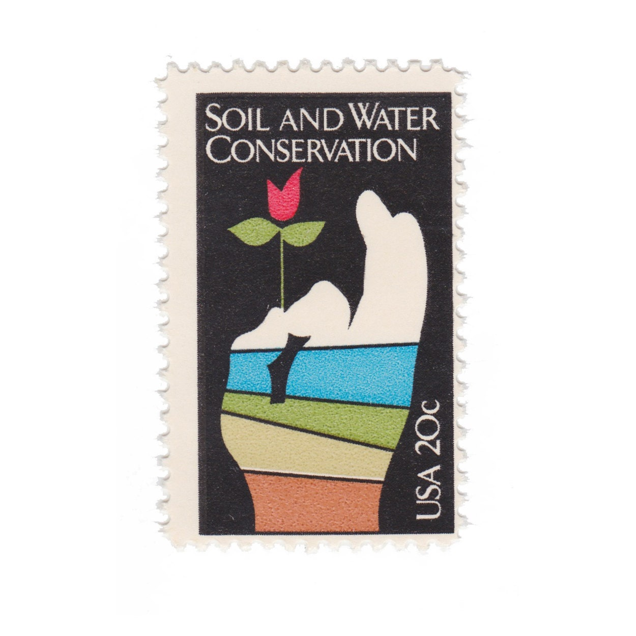 1984 soil and water conservation vintage postage stamps 10 for Soil and water conservation