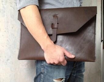 "Macbook leather sleeve dark brown Ipad sleeve leather Ipad mini case leather 13"" Macbook air leather case Laptop cover leather Tablet sleeve"