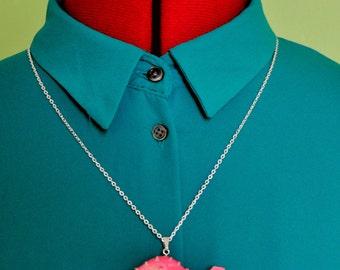 Pink Dinosaur Necklace