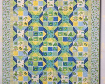 "Froggin Around Quilt Kit 51"" x 59"""