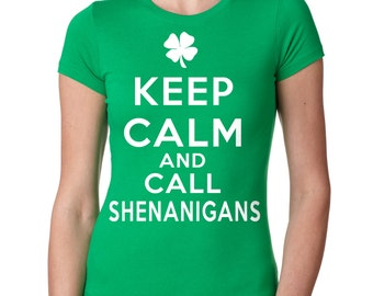 Saint Patrick's Day Woman Top Ladies Fit Shenanigans Clover Shamrock Tee Shirt St Patrick's Party