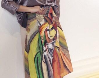 La Chic Parisienne Collection Surréalisme art print designed skirt