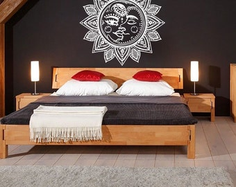 Wall Decals Sun And Moon Crescent Ethnic Dual Symbol Night Decal Vinyl Sticker Home Decor Art Mural MS614