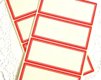 Vintage Self Sticking Dennison Labels. Red Labels. Address Labels. Mailing Labels. Vintage Office. Scrapbook Stickers. Journal Supply.