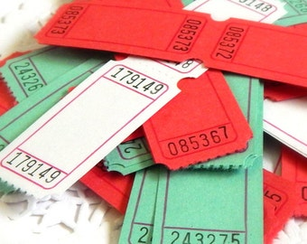 Blank Christmas Raffle Tickets. Party Tickets. Embellishment. Journal Supply. Scrapbook Ephemera. Junk Journal Paper. Planner Accessories.