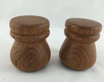 Vintage Wood Salt and Pepper Shakers