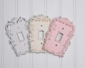 Light Switch Cover/Shabby Chic Light Switch Cover/Nursery Decor/Decorative Cover/Wall Decor/Farmhouse/Bedroom/Bathroom/