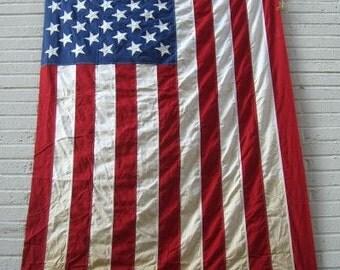 Huge American flag. Vintage 9'X5' 50 Stars American Flag.