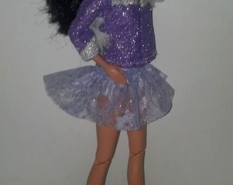 Purple Vintage Cowgirl Barbie Outfit