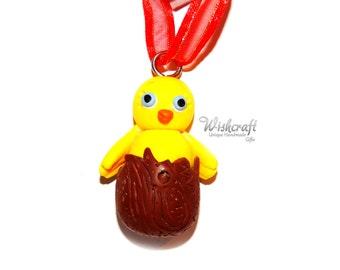 Easter egg & chick Ornament  -  easter