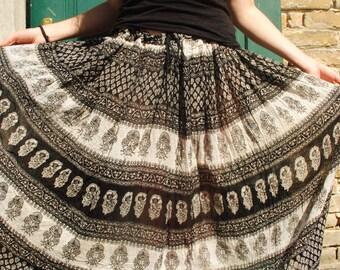 Indian skirt, Indian maxi skirt, colorful maxi skirt, summer maxi skirt, ethnic skirt, boho maxi skirt