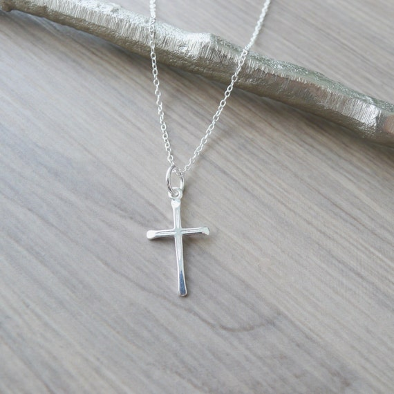 Sterling Silver Cross Necklace Small Cross Simple Cross