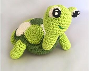 Turtle amigurumi crochet pattern PDF Dutch and English US - terms