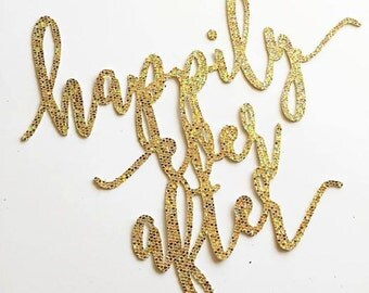 Happily Ever After Glitter Topper