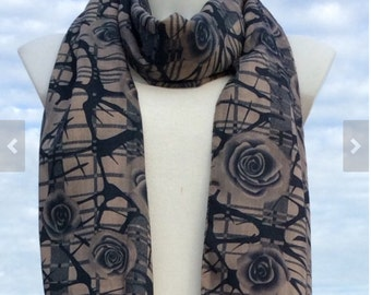 Double Layer Scarf Fall Scarf Scarves For Women Fashion Scarves Winter Spring Scarves Womens Scarves Unique Scarves Mother Daughter Scarves