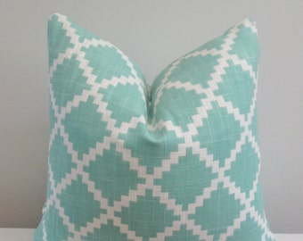 Aqua Pillow Cover 18x18, 20x20 Square Throw Pillow, Accent Pillow, Toss Pillow 16 22 24 26 Euro