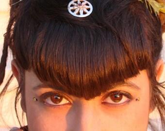 Dharma wheel Pendant, silver necklaces, yoga necklace, garnet Gemstone, buddha necklace, silver necklaces, garnet pendant, dharma wheel