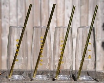 Bridesmaid champagne glasses personalized champagne flutes bridesmaid gift wedding toasting glasses bridesmaid glasses wedding gift gold