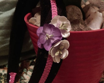 Pretty Purple Flowers headband