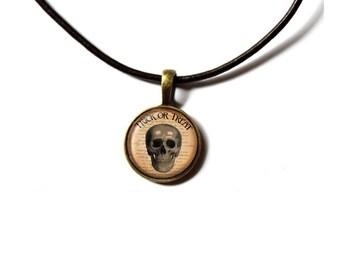 Anatomy pendant Macabre necklace Skull jewelry NWR264