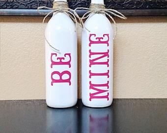 Valentine's Day Decor - Valentine's Day Wine Bottle - Valentine's Decor - Wine Bottle Decor - Wine Bottles - Valentine's Day
