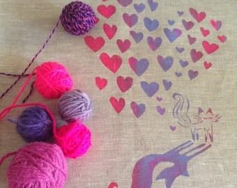 Foxy Love   linen wall art