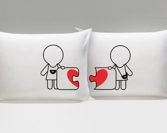 Hers and Hers Pillow Cases, Made for Each Other Lesbian Couple Gift, Lesbian Valentine, Lesbian Girlfriend Gift, Lesbian Wedding Gift
