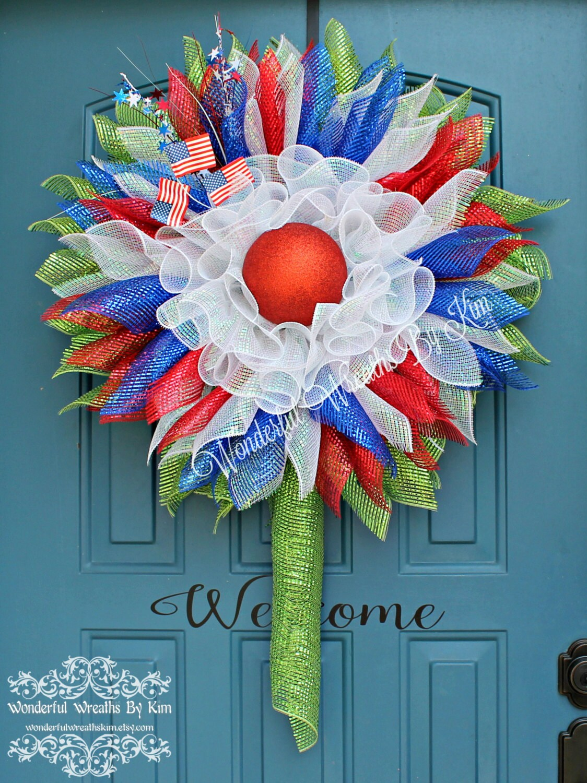Patriotic Flower Wreath Patriotic Flower By