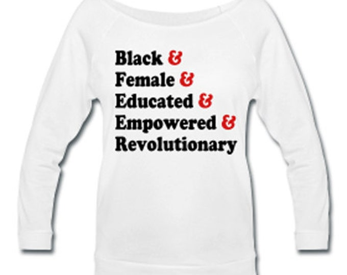 Traits of the Black Woman Off Shoulder T-shirt - White