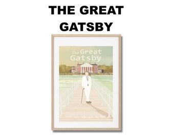 Affiche de film Gatsby le Magnifique - Poster Baz Luhrmann A3