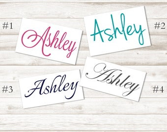 Personalized Stickers - Personalized Name Decal – Personalized Decal – Preppy Decal – Preppy Stickers – Personalized Gifts – D207
