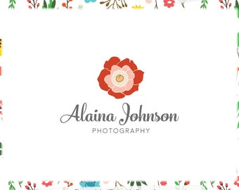 Floral Premade Logo Design - Web and Print - Limited Edition! Perfect For Photographer, Boutique, Interior Designer, Floral Stylist + more!