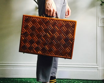 Mid Century Wood Briefcase By Diplomat