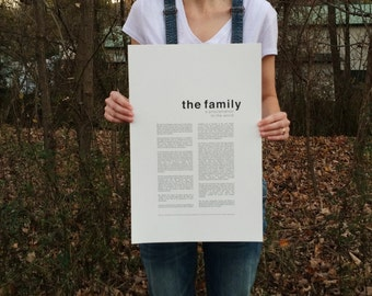 Family Proclamation Print