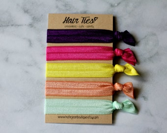 "Elastic Hair Ties - The ""Sophie"" Collection"