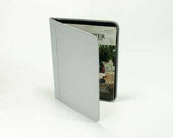 Watchtower/L&M Workbook Holder - Gray Leather - Jehovahs Witness Bible Literature Cover