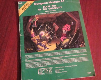 Dungeons & Dragons Slave Pits Of The Undercity adventure module A1 TSR