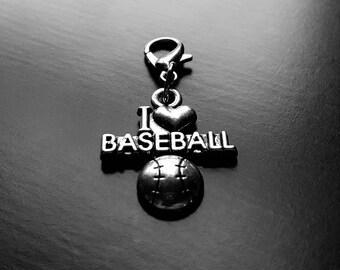 I Love Baseball Dangle Charm for Floating Lockets-Gift Ideas for Women