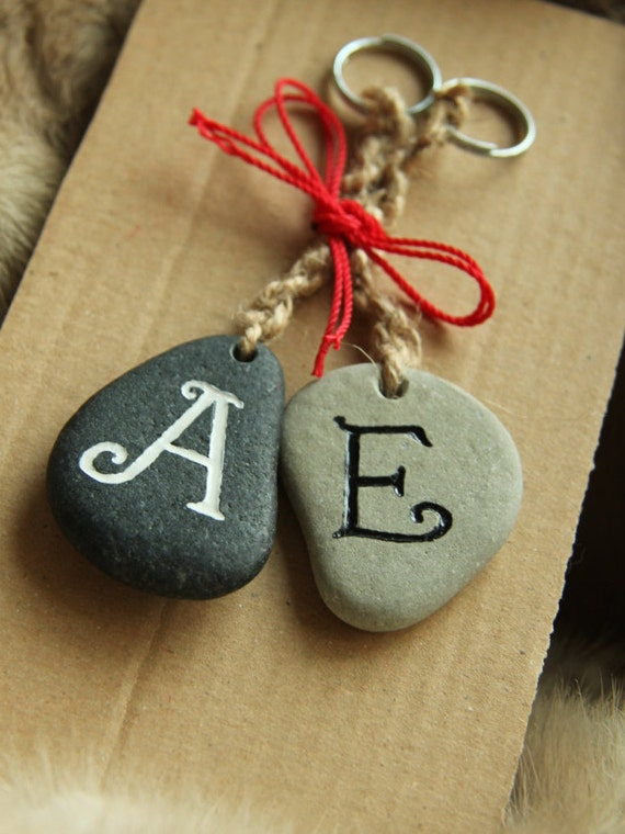 Keychain For Wedding Gift : wedding gift, keychain, initials for couples, custom, hand made, gift ...