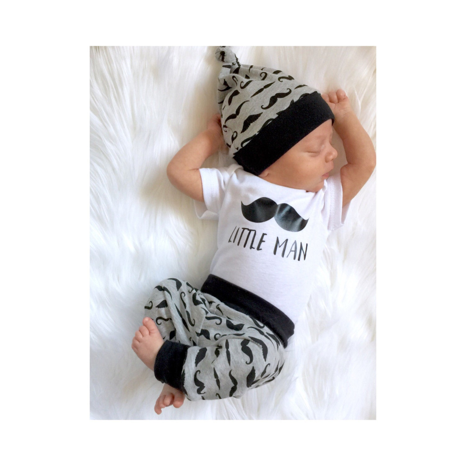 Baby boy coming home outfit little man by PinkPineappleCouture