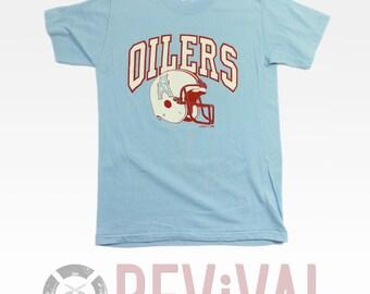 Vintage Houston Oilers T Shirt ~ Size XXS