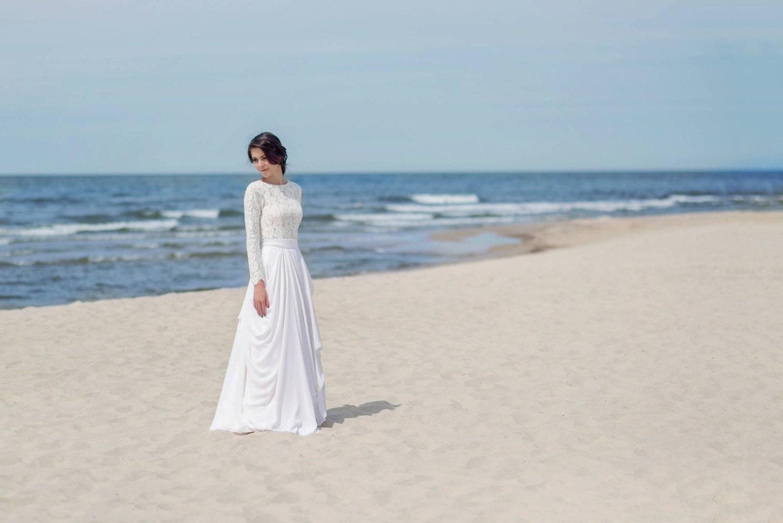 Eirene Modest Wedding Dress Simple Wedding Dress Bridal