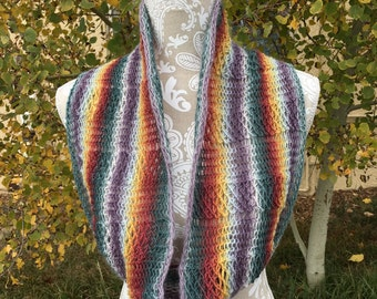 Kiowa Creek Cowl - a loom knit pattern