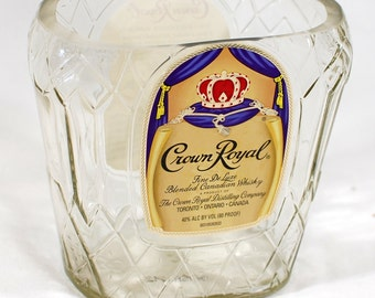 Handcrafted Vase - Created from Recycled Crown Royal Canadian Whiskey Bottle