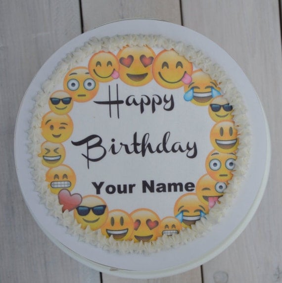 Personalized Emoji Cake Topper